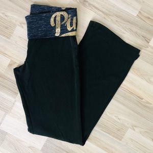 VS PINK Yoga Activewear pants PINK black wide leg